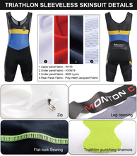 Breathable Quick Dry Professional Triathlon Singlet Suit