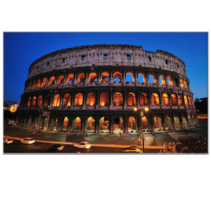Roman Colosseum print home hotel decor LED light canvas painting