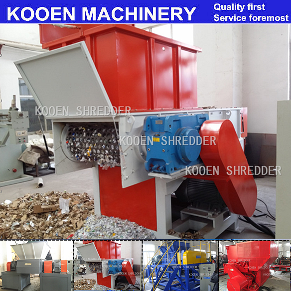 KOOEN single shaft shredder/plastic lump shredding machine/crate shredder