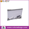 Good quality custom durable tote zipper clear pvc stationery bag/case for teens