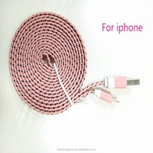original quality safe and fast multicolor braided Sync Usb Charging Cable USB charger for iphone