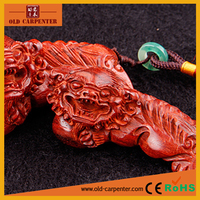 Fashion Delicately Carved Lion hand massager wood carving