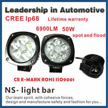 Good news!!50w 6500k 4800lm factory price lifetime warranty CREE IP68 spot and flood light led light bar for car