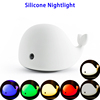 Cute Dolphin Tap Control Silicone Baby LED Night Light USB Rechargeable for Bedroom