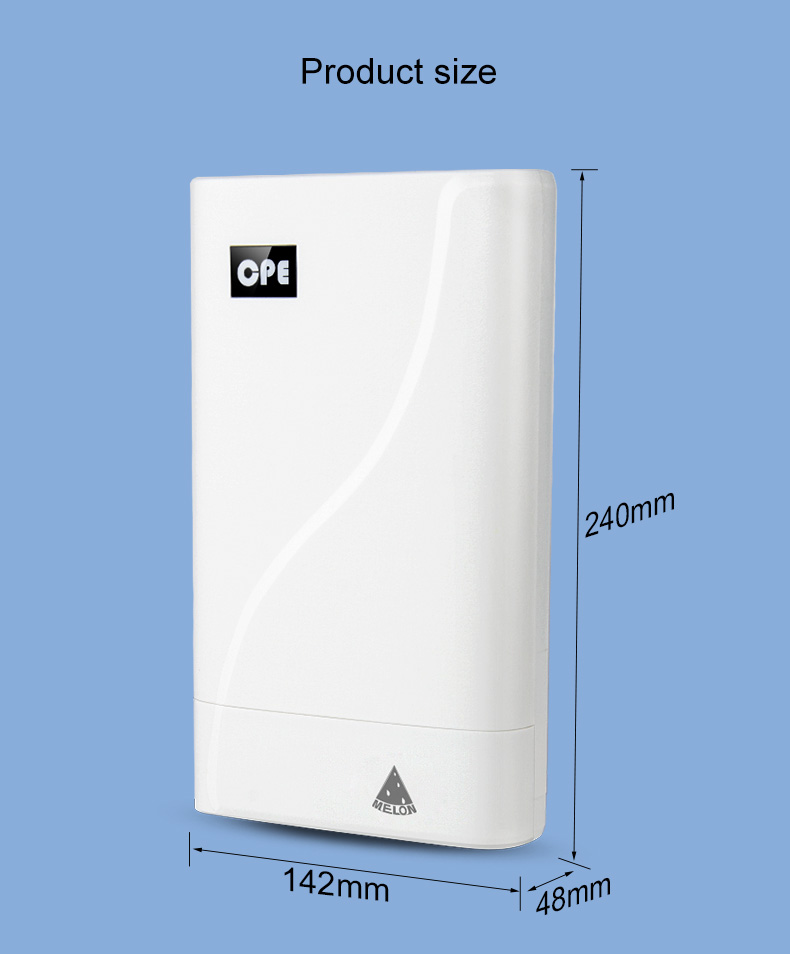 4G LTE wireless outdoor cpe , long distance 4G reception LT18