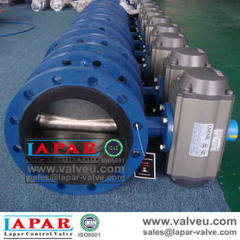 Pneumatic Butterfly Valve for industrial application