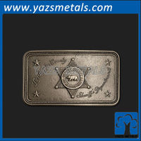 customize metal belt buckle, custom high quality Los Angeles county sheriff's department belt buckles