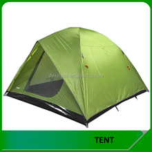 Wholesale Outdoor Waterproof 3-4 Person 2 Layer Polyester Large Camping Tent