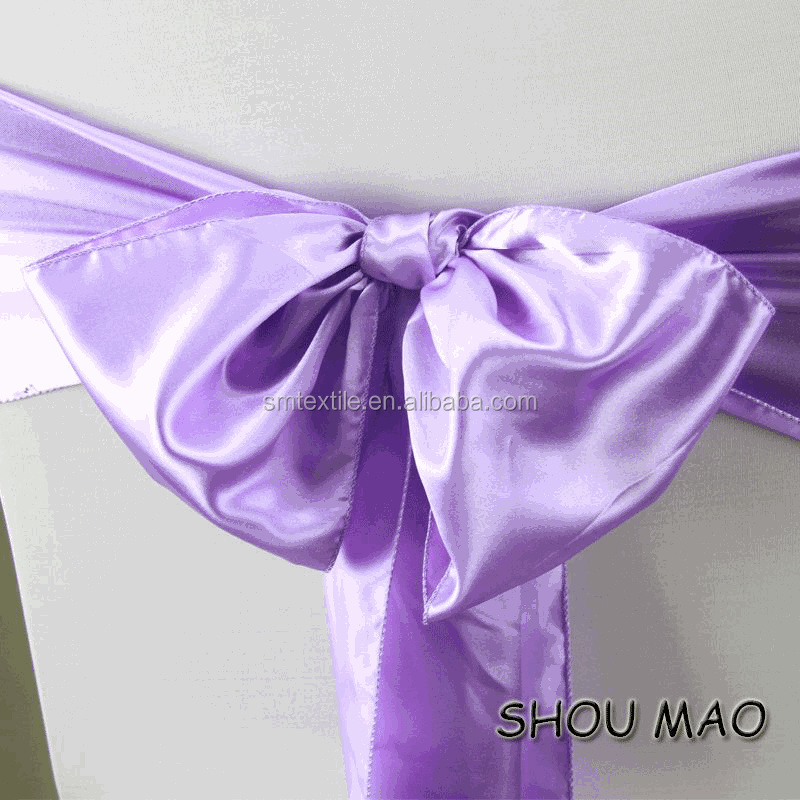 manufacture purple satin chair sashes