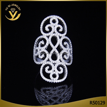 925 Sterling sliver jewelry wedding zircon ring holiday for gift ring jewelry wholesale