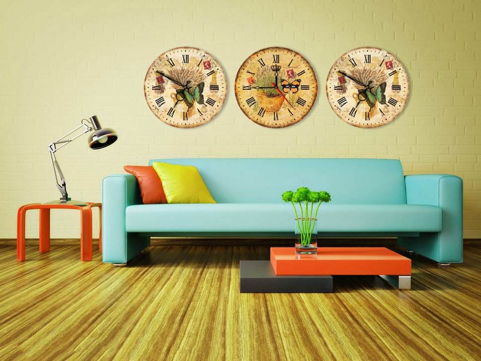 Digital insert chinese wall clocks