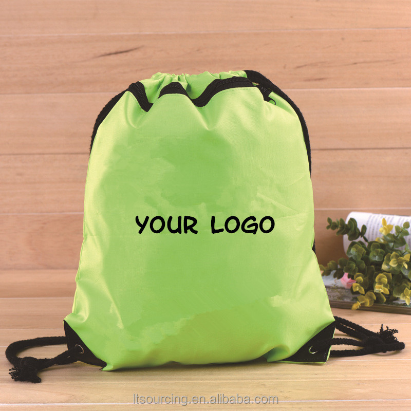 Promotional eco friendly non-woven polyester drawstring shopping bag