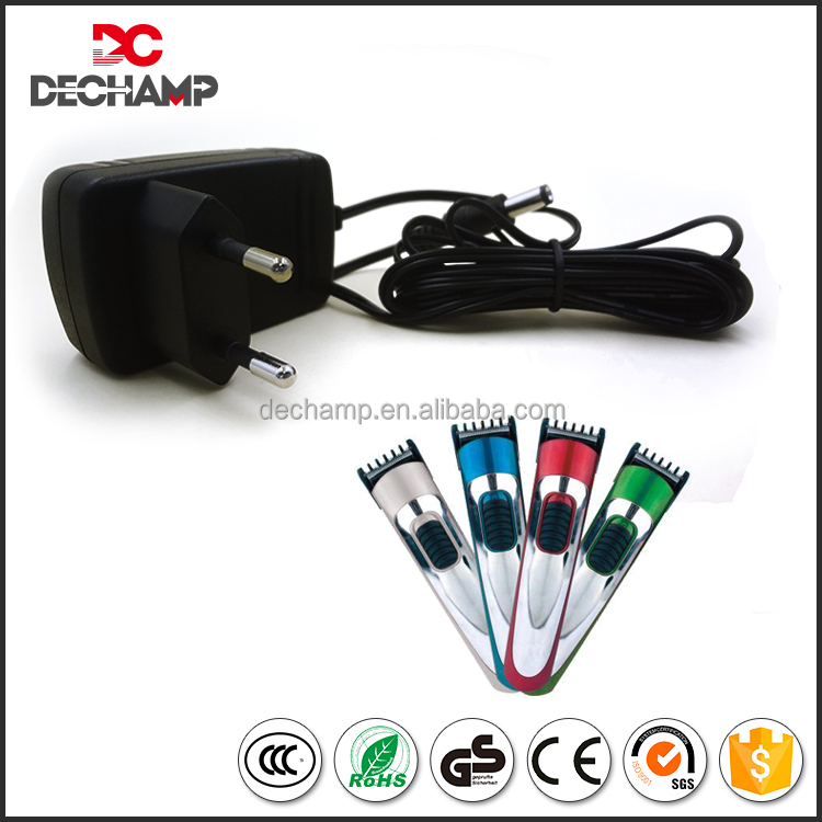 High Efficiency CE ROHS Proved Electric AC DC Adapter For Hair Clipper