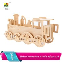 Hobbycraft custom High Quality Train popular wooden Education Assembly Toy Train