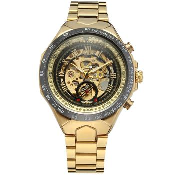 2019 FORSINING Hot Selling Luxury Skeleton Gold Automatic Movement Watch
