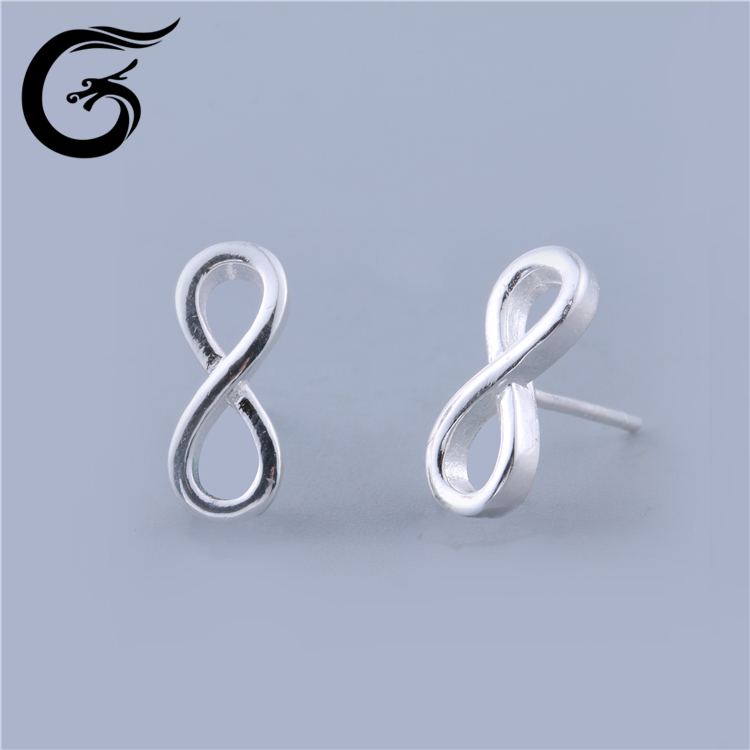 GuoLong simple gold earring designs for women 925 silver price per gram earring 925 silver