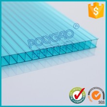 excellent weather ability 12mm waterproof color cardboard polycarbonate sheet