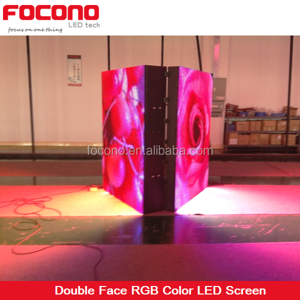 replacement lcd tv screen 8years warranty 10mm 16mm front access single cabinet double face led scrolling display