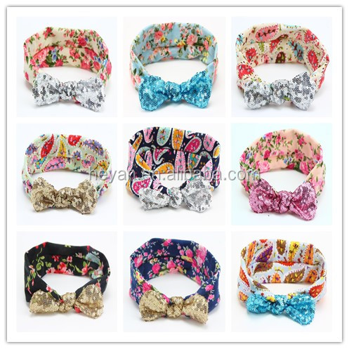 Baby <strong>Headbands</strong>, sequin knot & Dots Head wraps, Baby Head wraps <strong>Headbands</strong>