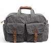 Super large capacity canvas and genuine leather travel bag shoulder sports bag for men