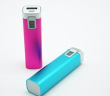 high quality LCD digital display mobile power bank 2600mah external battery charger