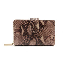 Luxury snake skin pattern cow leather jewelry wallet