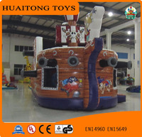 Best quality Inflatable pirate boat slide for kids/ inflatable pirate ship on sale