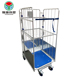 High quality roll 3 sided container metal trolley roll cage