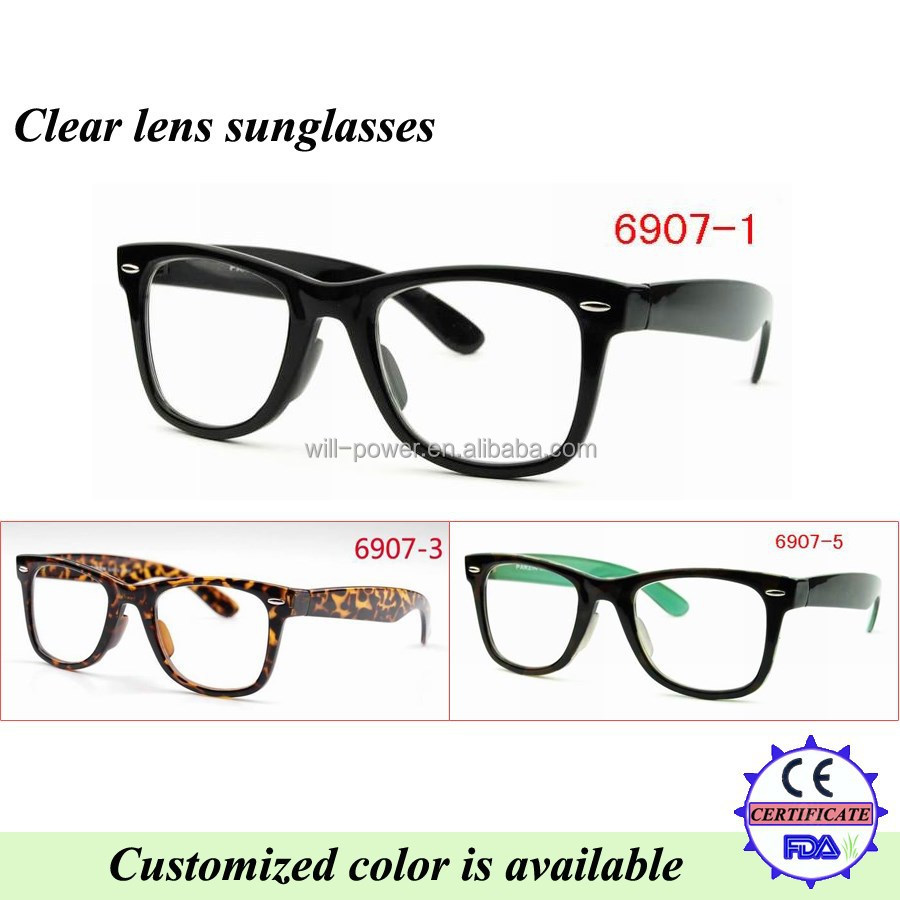 promotion clear lens glasses with UV 400