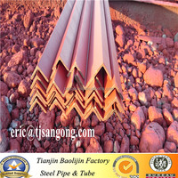 bs1387 hot rolled red painted angle steel bar