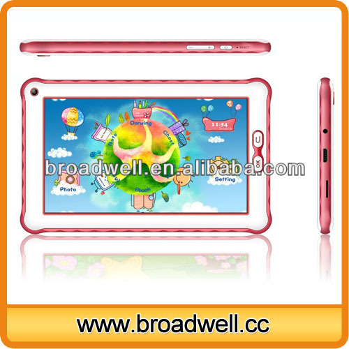 High Quality Rockchip 3026 Dual Core Cortex A9 1.0GHz Children mini pad 7 inch android tablet