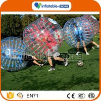 Factory cheap plastic inflatable bubble football bumper ball bubble football