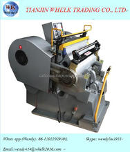wk-1000 flat creasing die-cutting machine/manual die cutting machine cardboard