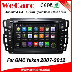 "Wecaro Android 4.4.4 touch screen in dash 7"" radio GPS Navigation System for gmc yukon car dvd player 2007 -2012"