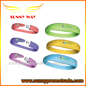 custom silicone USB flash Drives wristband