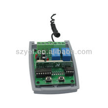 Wireless Receiver 2CH RF Remote Control Switch Relay Output for Light New YET402pc-V2.0