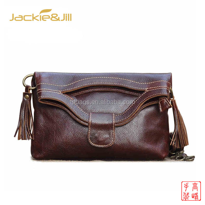 GF-Z106 Foldable Ladies Handmade Genuine Leather Handbag