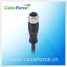 IEC 61076-2-101 4A 60V M12 5pin female B Coding sensor connector Straight Molded with EMI shielded Cable connector