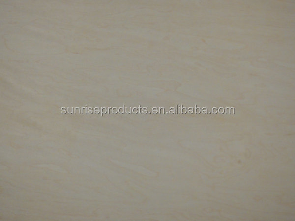 High quality E0 grade 5MM MDF with natural maple veneer coated