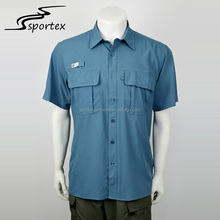 Promotional wholesale short sleeve plain men outdoor casual shirt men