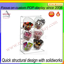 Custom acrylic bowl snack rack for candy promotion
