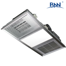 home use aluminum alloy waterproof quiet and safe energy-saving ceiling mounted electric bathroom heater with LED lighting panel