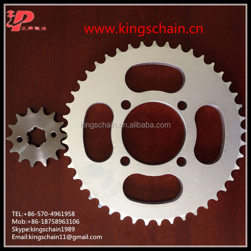 motorcycle part YBR125 1045 steel 45T/14T 428H-118L motorcycle chain and sprocket kits