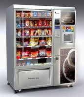 LV-X01 Food Snack/Cold beverage and coffee vending Cart