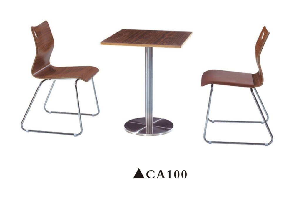 Modern design table and chair for coffee shop