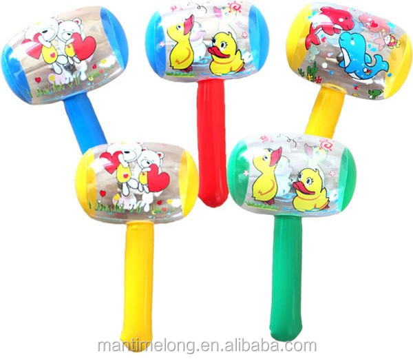 Cartoon Inflatable Hammer Air Hammer With Bell Kids Children Blow Up Toys