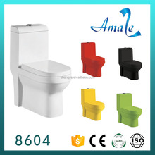 Red/Black color toilet colorful ceramic sanitary ware porcelain toilet with soft close seat cover