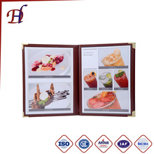 Custom PU leather menu folder and PU leather restaurant menu cover /hotel leather menu folder/Menu Holder