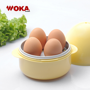 Plastic 4 eggs capacity microwave egg boiler for sale
