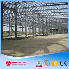 PEB Q345 steel structure warehouse with crane for industry manufacturing company